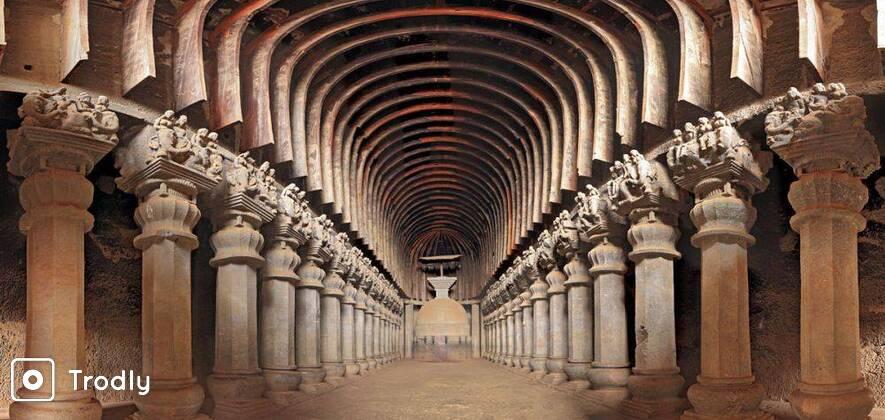 Guided Tour: Karla and Bhaja Caves from Mumbai