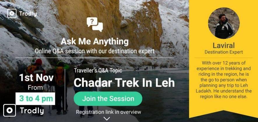 Chadar Trek via Lingshed Village 2018