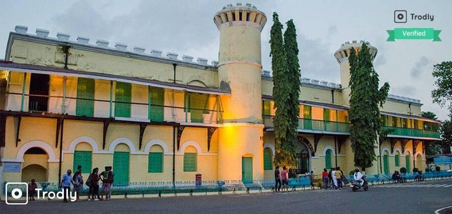 Cellular Jail Visit and Light & Sound Show