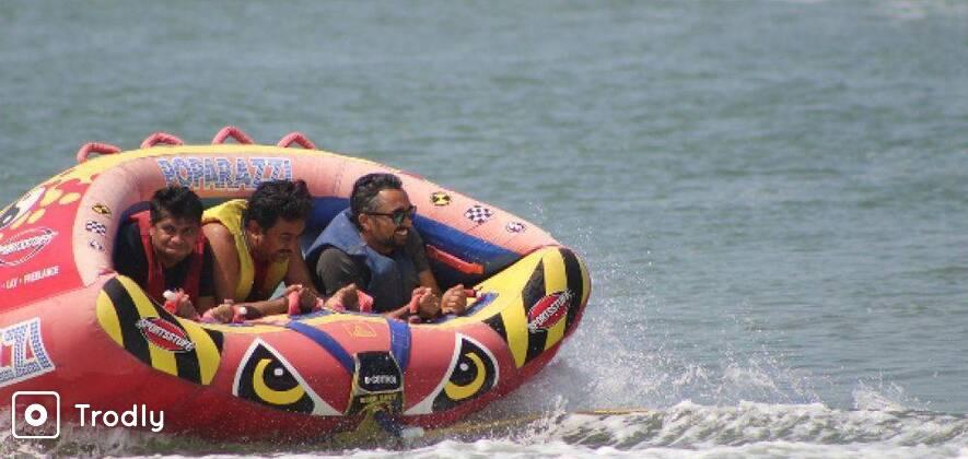 Bumper Ride at Calangute Beach, Goa