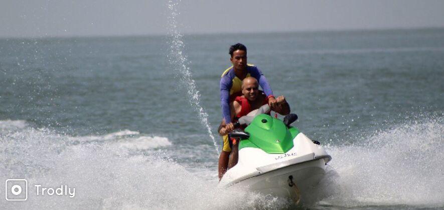 Jet Ski Ride at Dona Paula Beach, Goa
