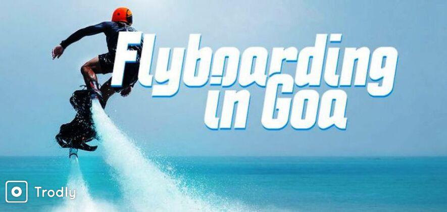 Flyboarding in the Arabian Sea in Goa