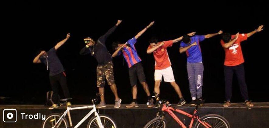 Midnight Cycling Trip to Rasta Cafe