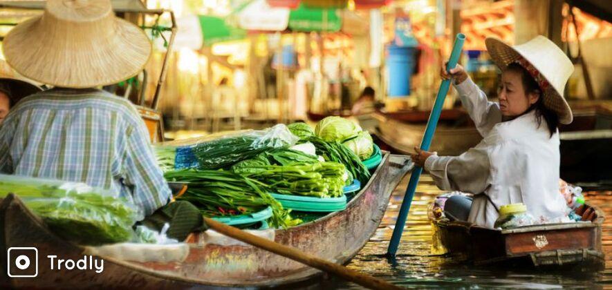 Floating Market,Grand Palace,Wat Pho and Emerald Buddha Tour