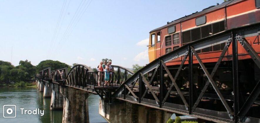 River Kwai Bridge, Erawan National Park and Floating Market Tour