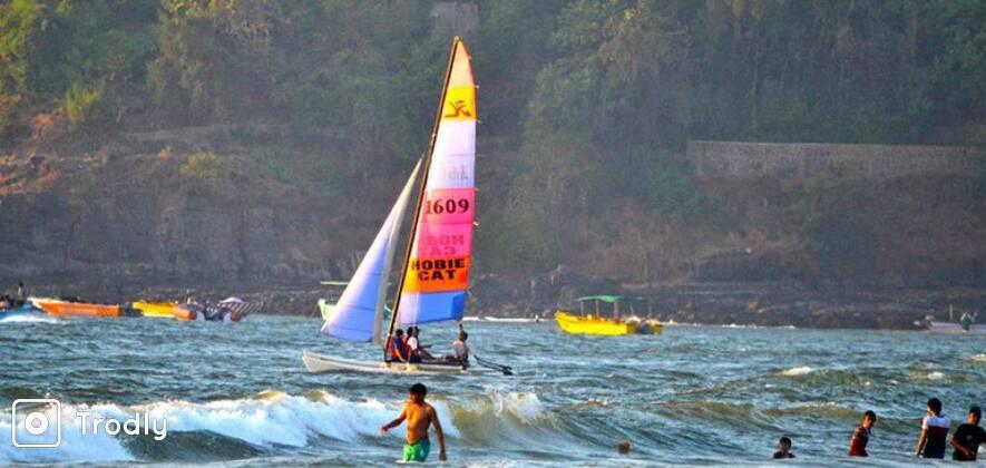 Catamaran Sailing in Chapora River, Goa
