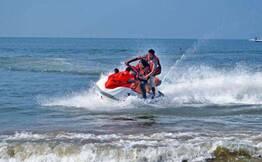 Jet Ski Ride at Calangute Beach